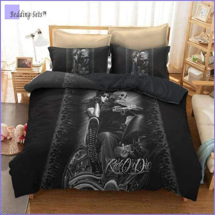Motorcycle Bedding Set - Couple - Bedding-Sets™