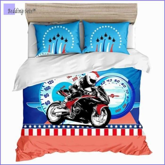 Motorcycle Bedding Set - Drawing style - Bedding-Sets™