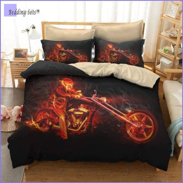Motorcycle Bedding Set - Hell Rider