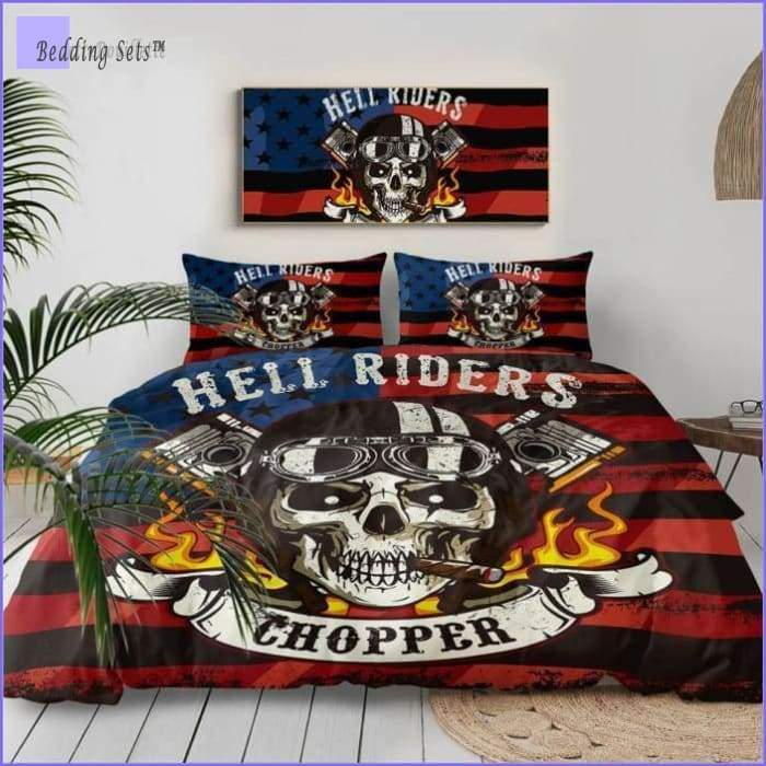 Motorcycle Bedding Set - Hell Riders - Bedding-Sets™