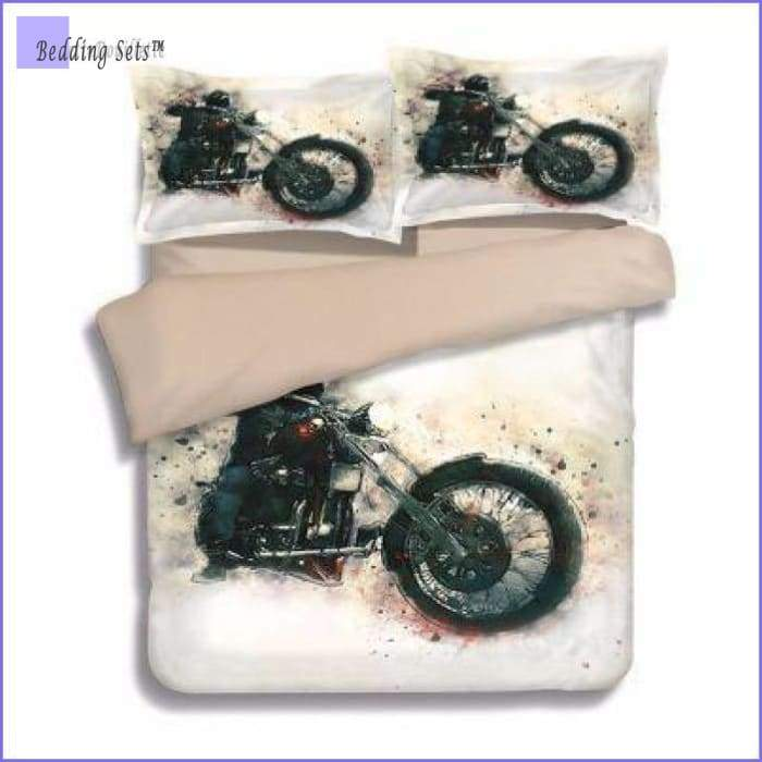 Motorcycle Bedding Set - White Custom