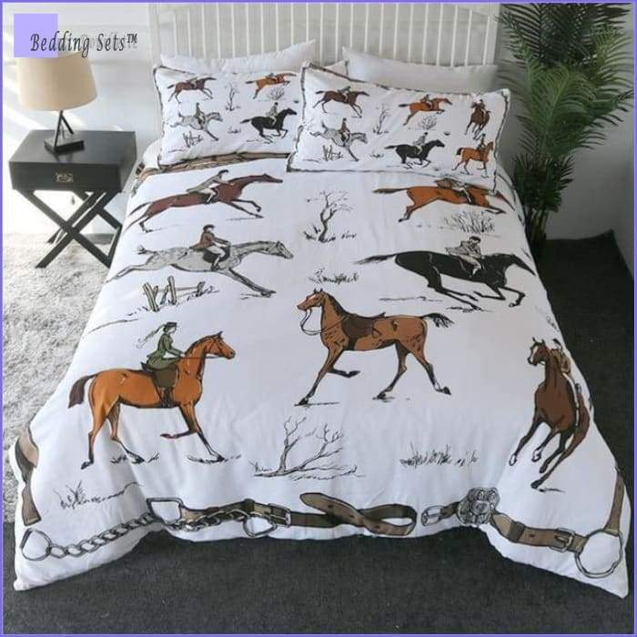 Printed Horses Bedding Set - Bedding-Store™