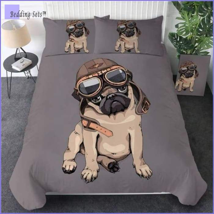 Pug Bedding Set - Aviator
