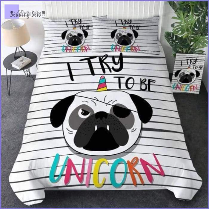 Pug Bedding Set - Unicorne