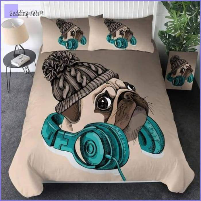 Pug Bedding Set - Winter