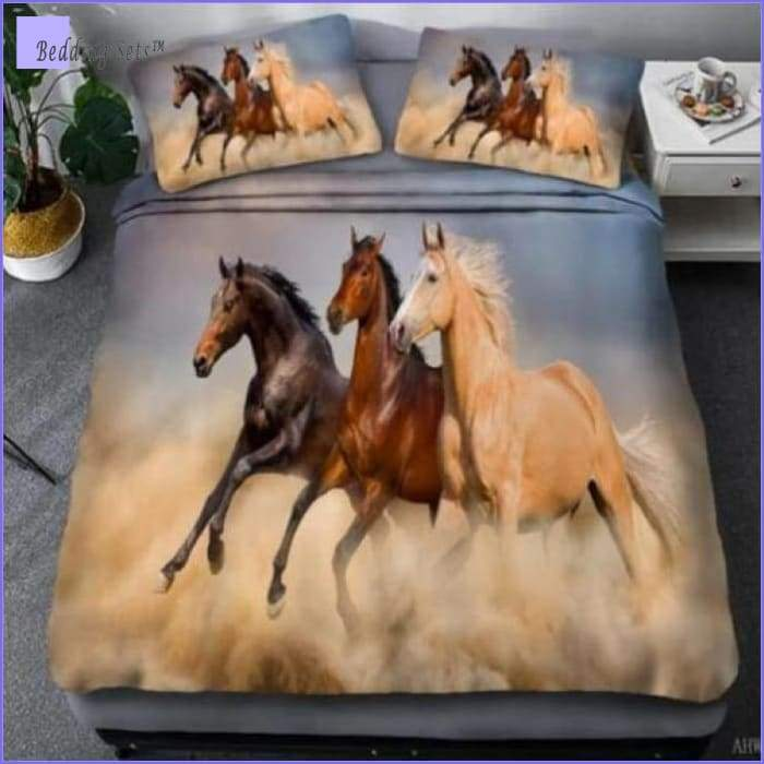 Race Horses Bedding Set