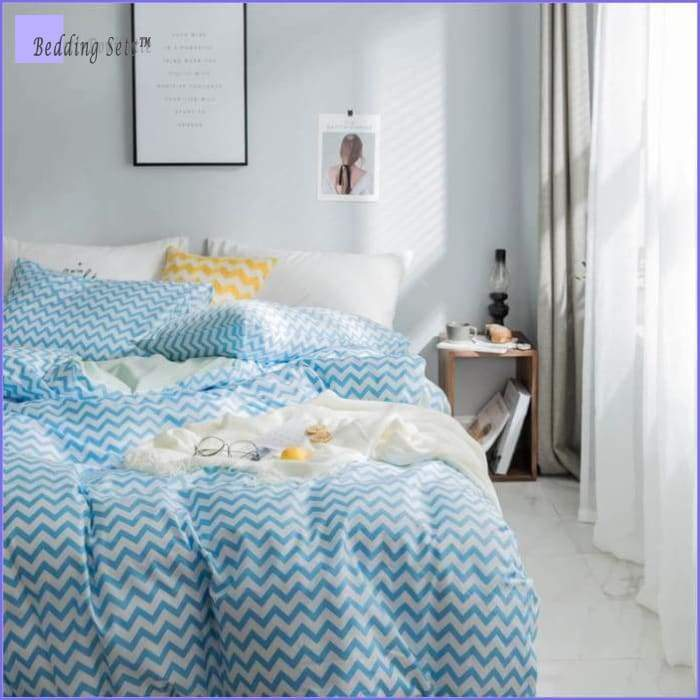 Scandinavian Bedding - Ocean Blue