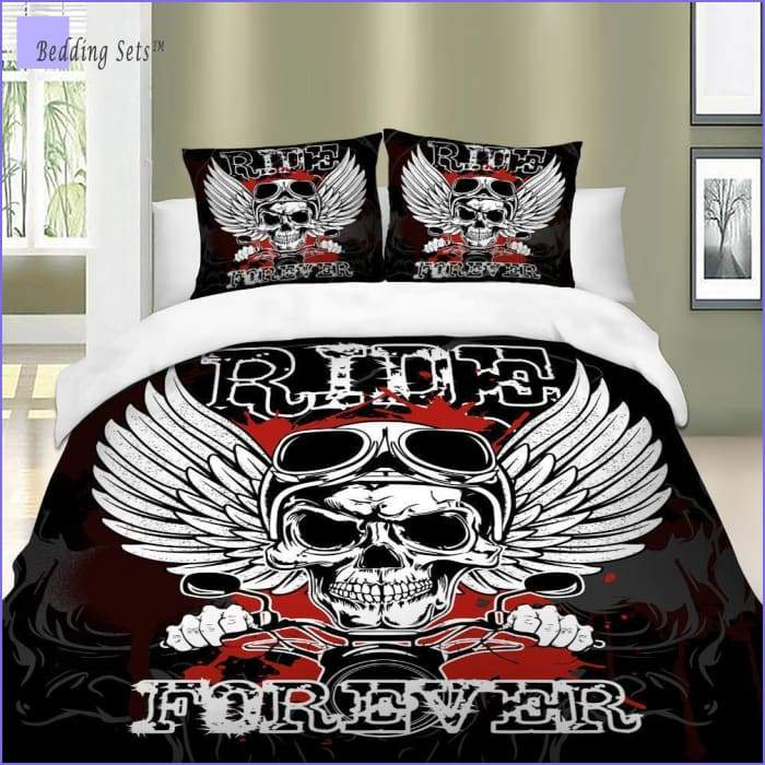 Skull Bedding Set - Biker