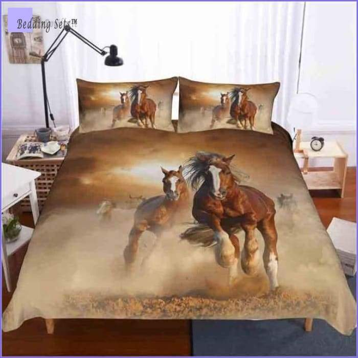 Twin Horse Bedding Set