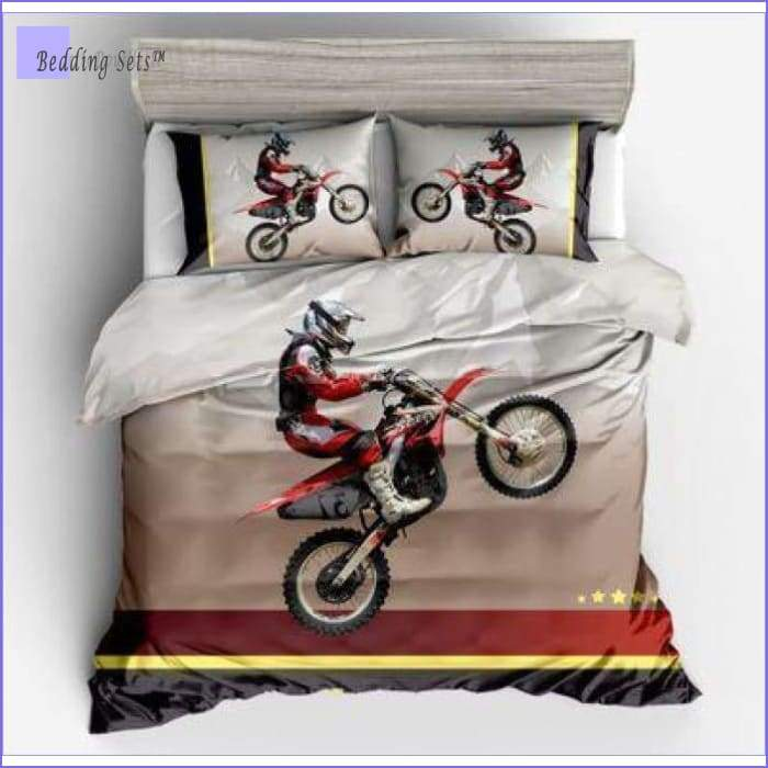Twin Motocross Bed Set - Bedding-Sets™