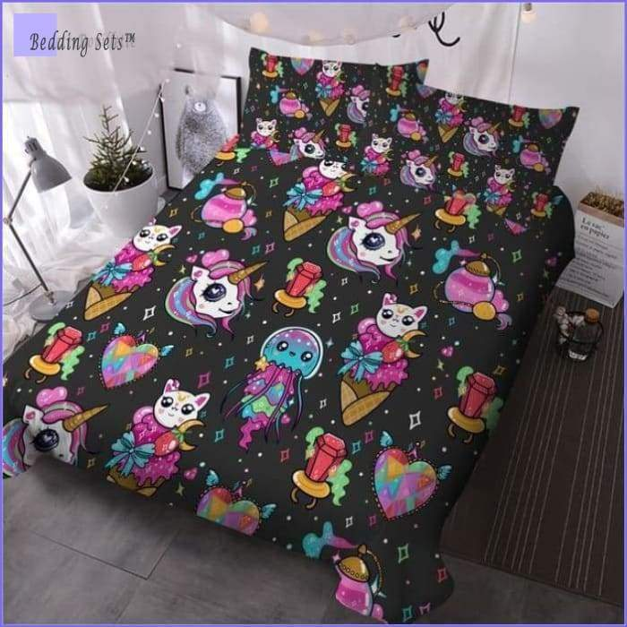 Unicorne & Cat Bedding