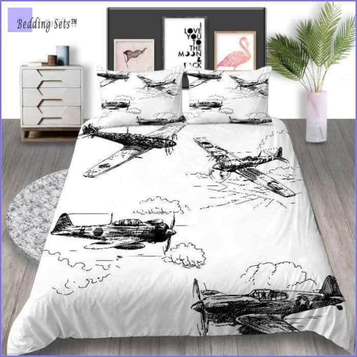 Vintage Aircrafts Bedding