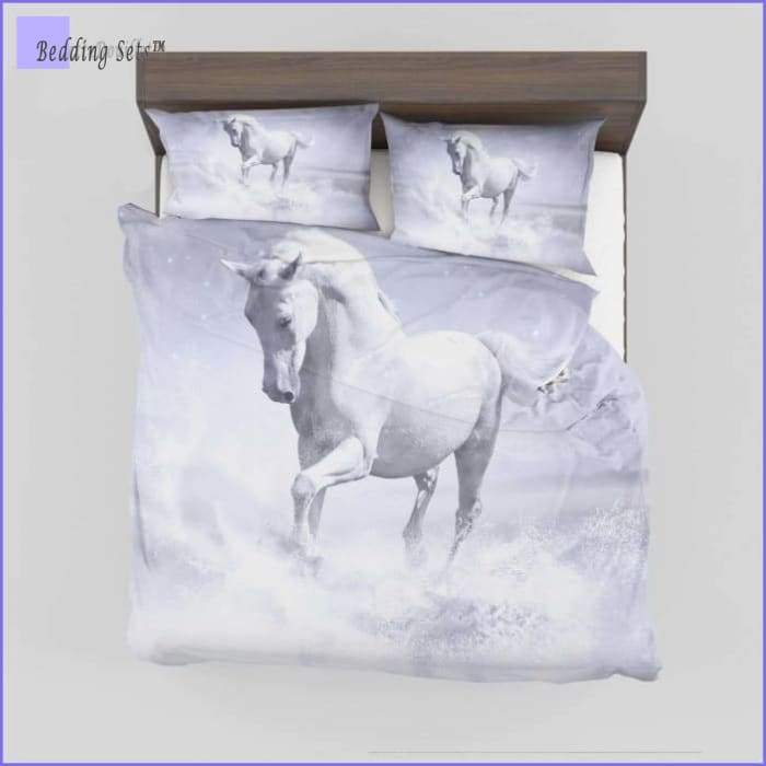 White Horse Bedding Set - Bedding-Sets™