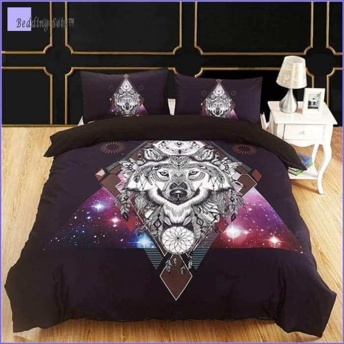 Wolf Dream Catcher Bedding - Stars