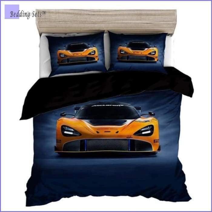 Yellow Racing Car Bedding
