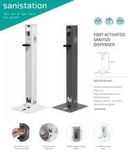Load image into Gallery viewer, Foot Operated Sanitizer Dispenser - Dark Grey
