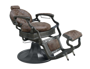 Vintage Barber Chair CLINT Brown