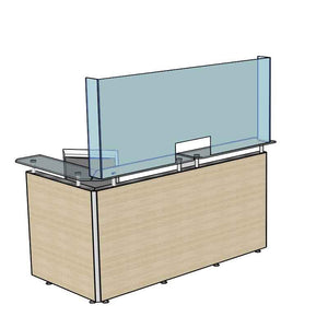 Counter Desk Shield Acrylic Sneeze Screen 675 mm