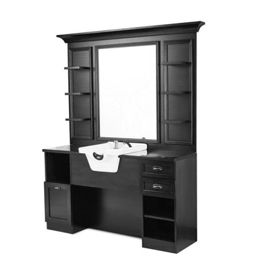 Front Wash Barber Unit JULES - Black
