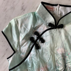 Mazzario Mint Green Silk Cheongsam