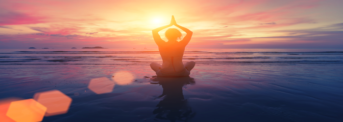 meditation on the see in the morning to enhance energy