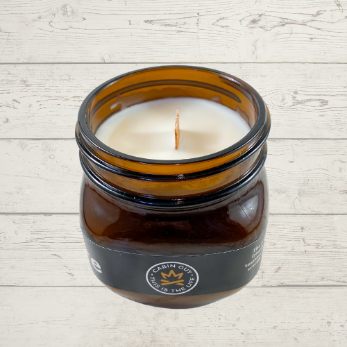 Campfire Amber Ball Jar 14oz Candle