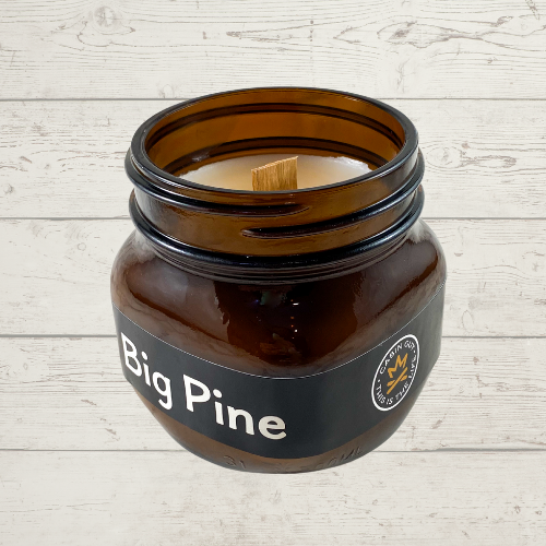 Big Pine Amber Ball Jar 14oz Candle