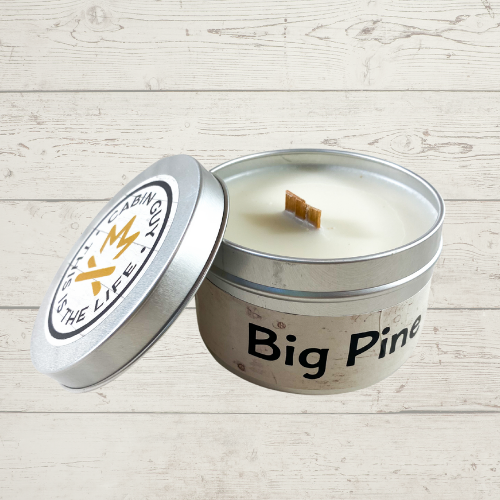 Big Pine Hand Poured 8oz Candle in Silver Tin
