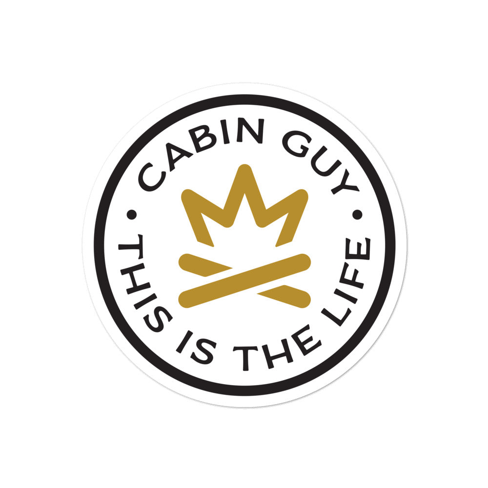 Cabin Guy - This is The Life - White Bubble-free stickers