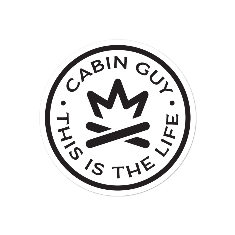 Cabin Guy - This is The Life - Bubble-free stickers