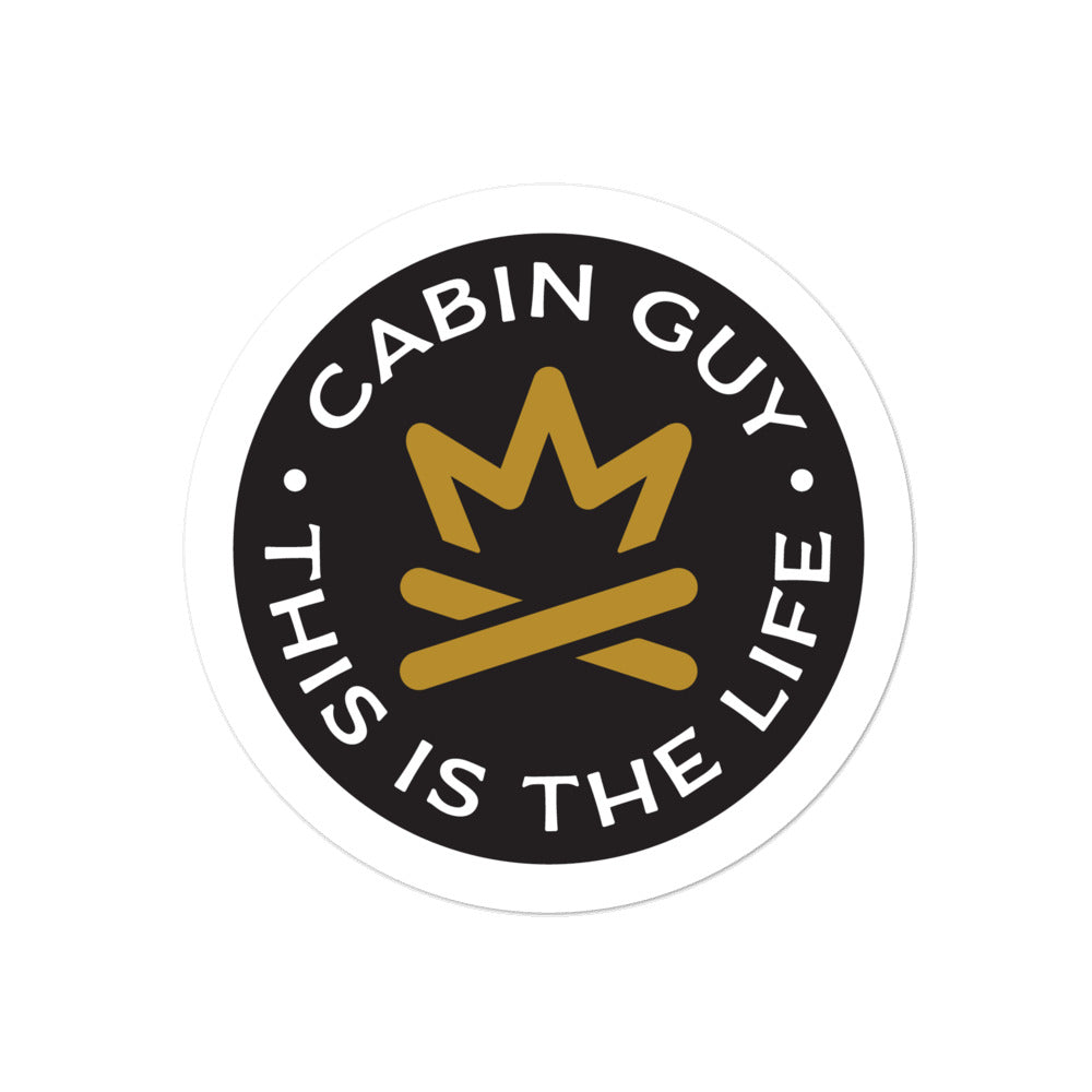 Cabin Guy - This is The Life - Black Bubble-free stickers