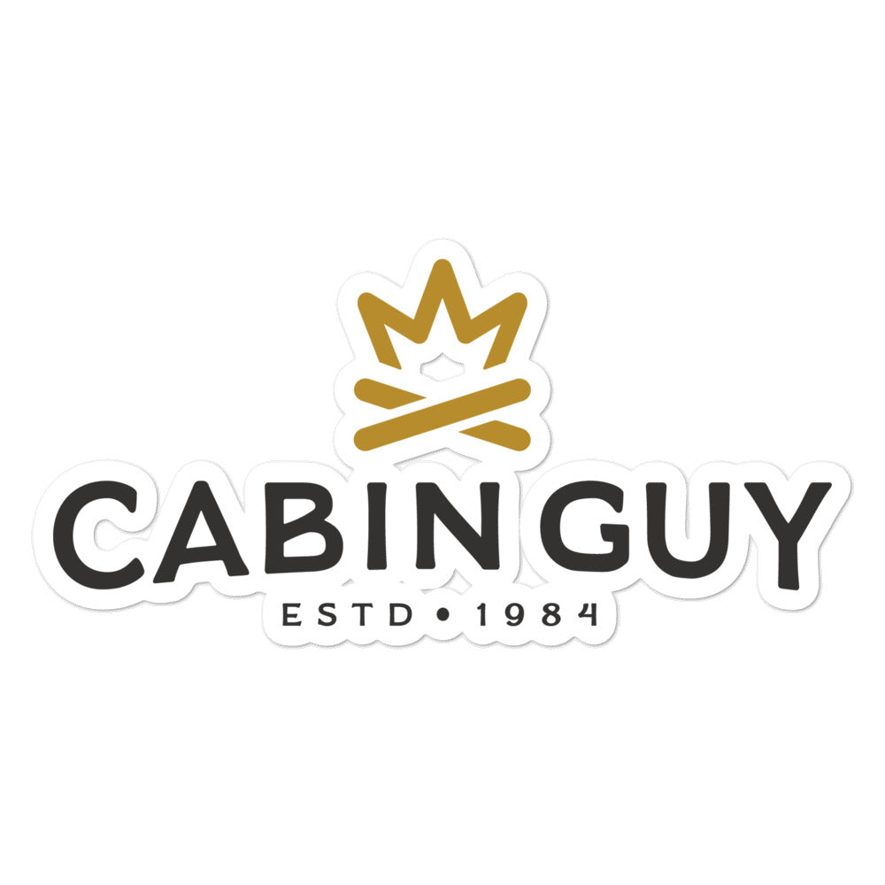 Cabin Guy Bubble-free stickers