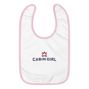 Cabin Girl Embroidered Baby Bib