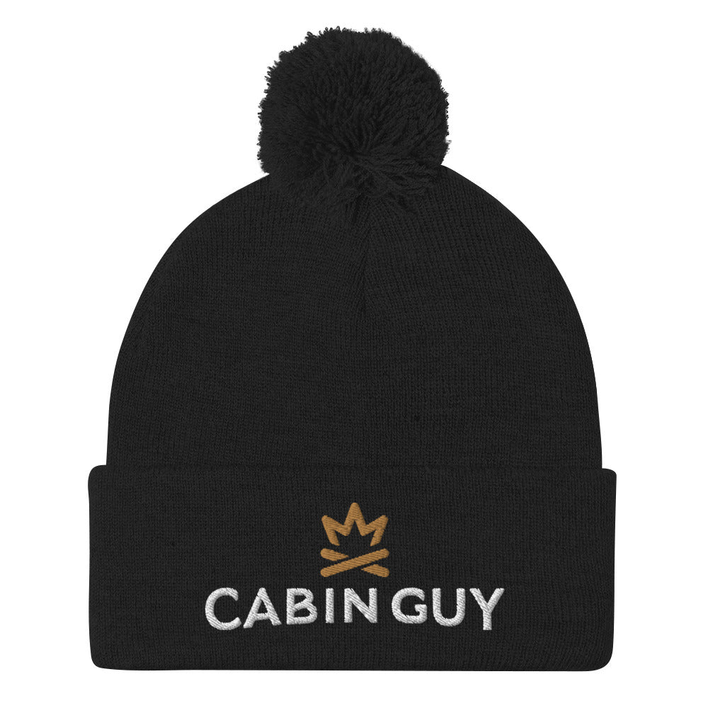 Winter Goose Cabin Guy Pom-Pom Beanie