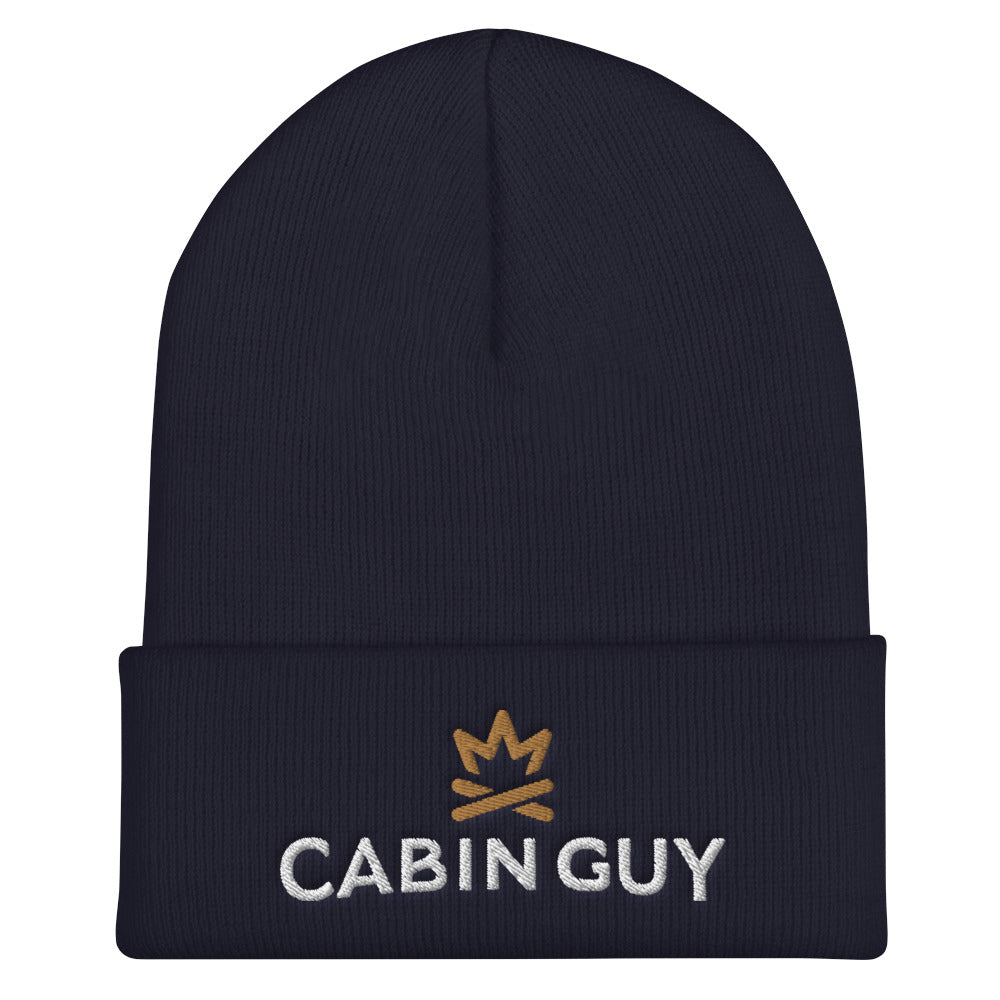 Winter Goose Cabin Guy Cuffed Beanie