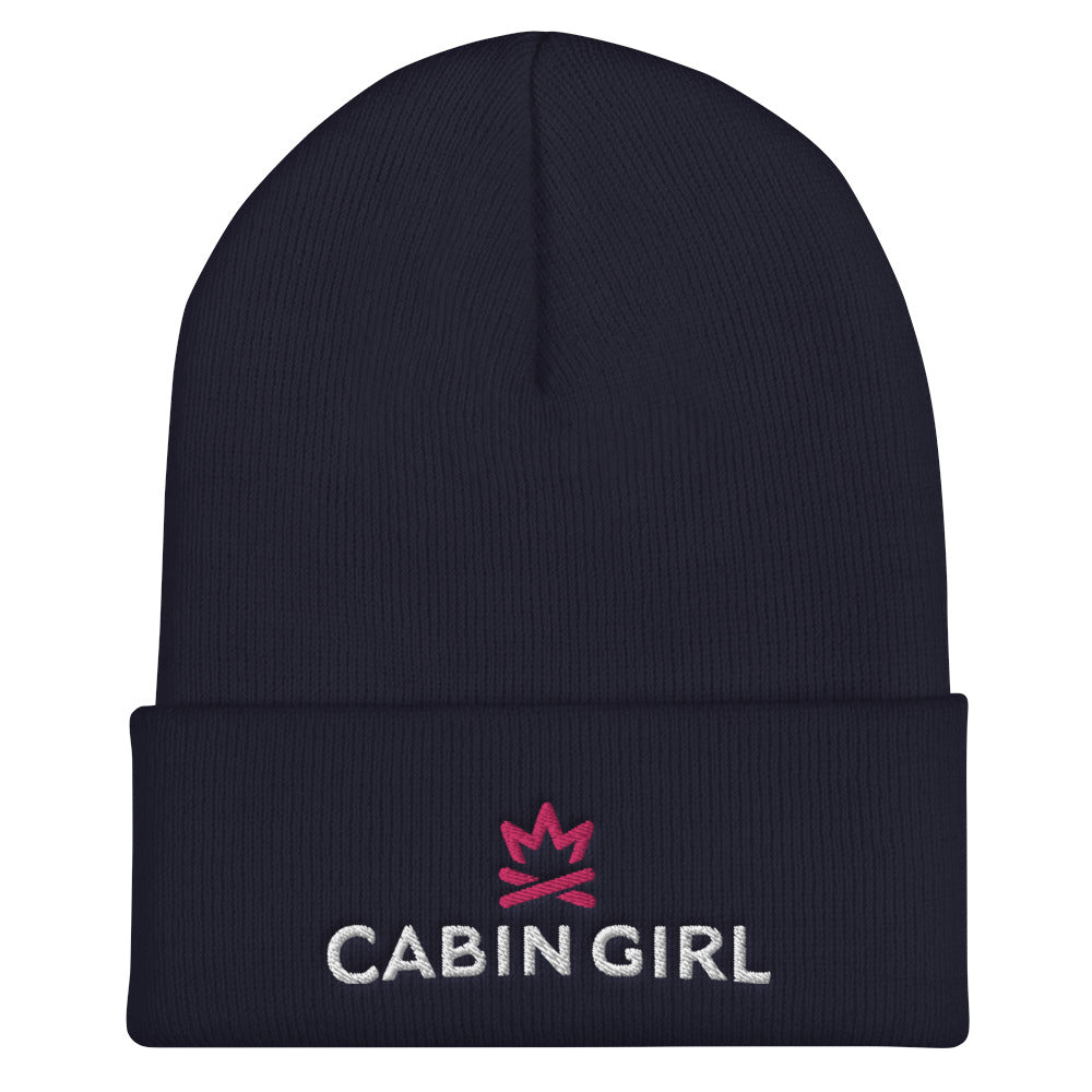 Winter Goose Cabin Girl Cuffed Beanie