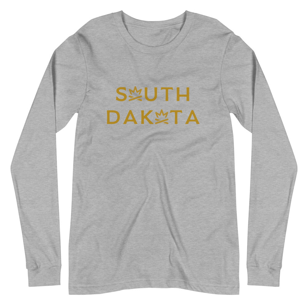 SOUTH DAKOTA Fire Crown Unisex Long Sleeve Tee