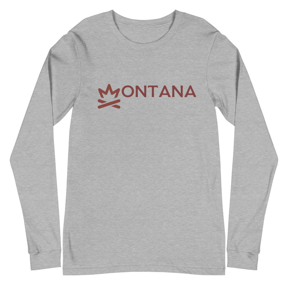 MONTANA Fire Crown Unisex Long Sleeve Tee