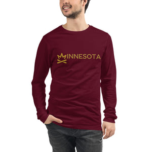 MINNESOTA Fire Crown Unisex Long Sleeve Tee