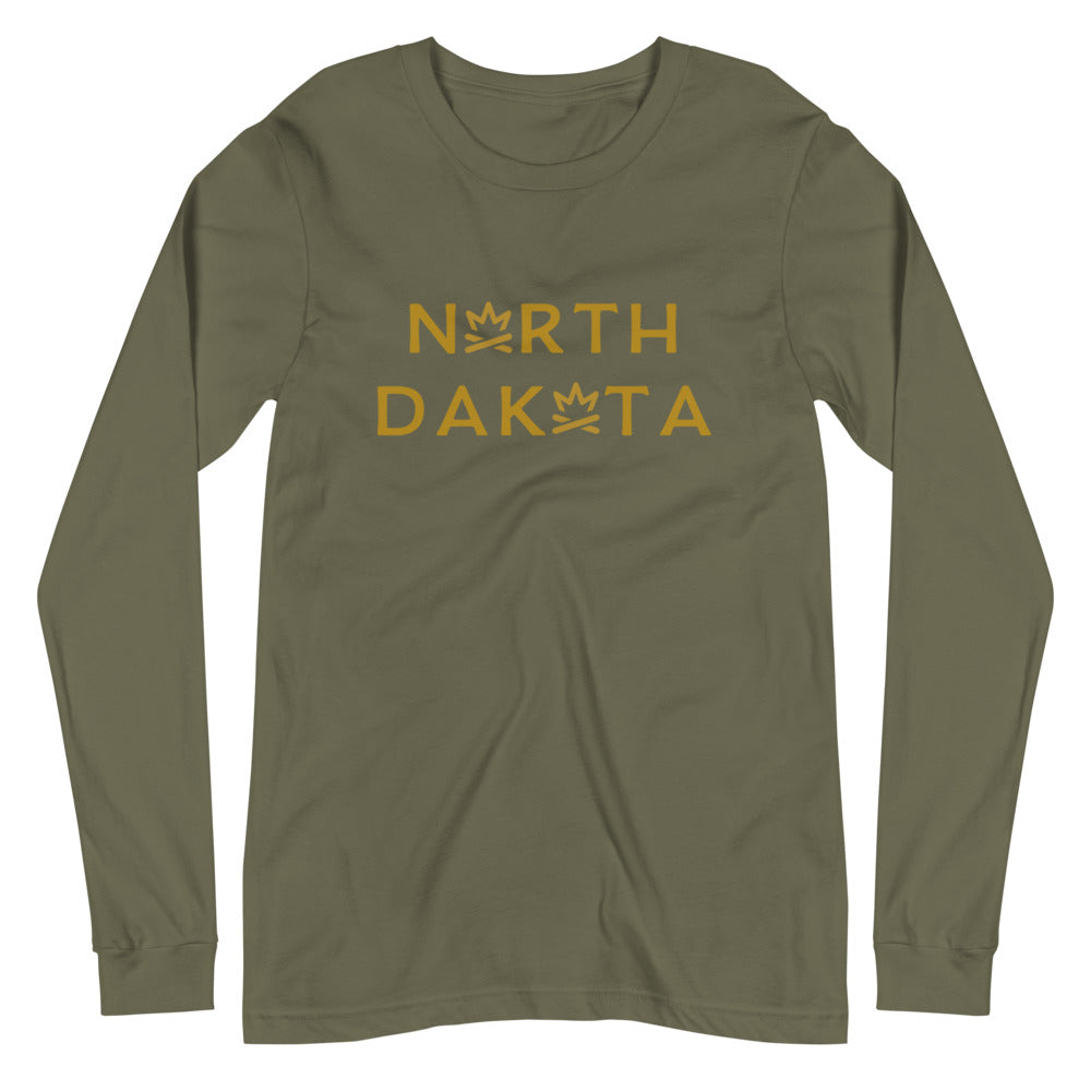 NORTH DAKOTA Fire Crown Unisex Long Sleeve Tee