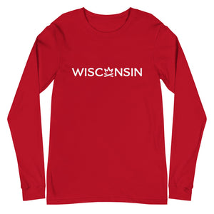 WISCONSIN Fire Crown Unisex Long Sleeve Tee