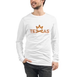 TEXAS Fire Crown Unisex Long Sleeve Tee