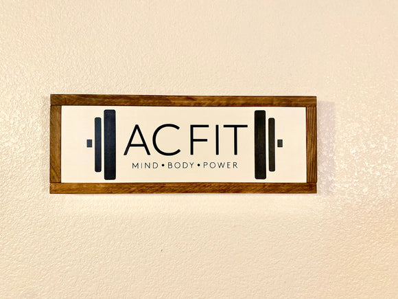 Corporate Logo Wood Sign