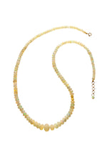 Load image into Gallery viewer, Opal Graduated Beaded Gemstone Necklace set in 18kt Gold N002-O