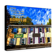 Colorful Buildings Canvas Gallery Wraps