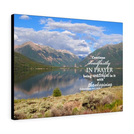 Mountain and Lake Reflection Canvas Gallery Wraps