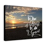Laguna Beach Sunset Canvas Gallery Wrap