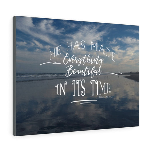 Beach and Sky Reflection Canvas Gallery Wrap
