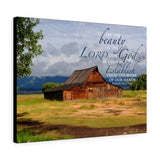 Barn with Clouds Canvas Gallery Wrap