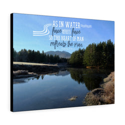 Vermont Lake Canvas Gallery Wrap